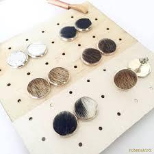 earrings for sensitive ears australia cowhide earrings in silver or rosegold leather hide hair nickel