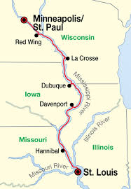 Illinois City Map Map Of Mississippi River With Cities Images