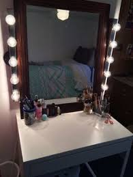 Inexpensive Vanity Lights Made With All Ikea Products Purchased Separately Mirror Desk