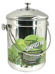 eddingtons compost pail stainless steel amazon co uk kitchen u0026 home