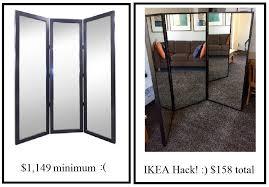 the best tri fold ikea mirror hack u2013 oliver rebecca