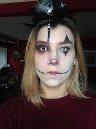 creepy clown halloween makeup madab0utmakeup
