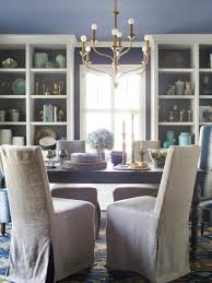Dining Room Chair Covers With Arms Spice Up Your Dining Room With Stylish Slipcovers Hgtv