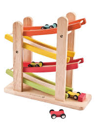 wooden toys amazon com everearth jr ramp racer race track for toddlers and