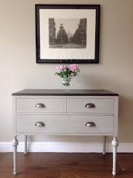 Tv Table Ideas Vintage French Style Painted Annie Sloan Paris Grey Lowboy Chest