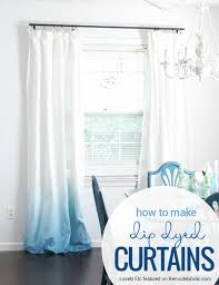 Design Your Own Curtains Remodelaholic Make Your Own Ombre Dip Dye Curtains