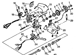 steering column exploded views for ford gm dodge chrysler jeep