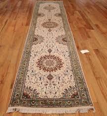 Orange Runner Rug Wool And Silk Tabriz Runner Rug 49402 Nazmiyal Rugs