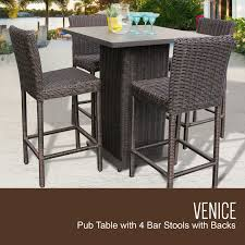Outdoor Wicker Patio Furniture Sets Venice Pub Table Set With Barstools 5 Outdoor Wicker Patio