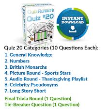 single trivia quiz packs