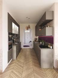 cuisine couloir cuisine couloir awesome cuisine avec piano central cuisine design