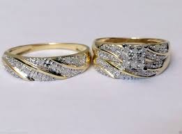 cheap wedding sets for him and gold plated beautiful rings set with diamonds why white