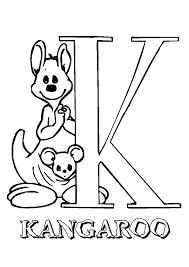 kangaroo coloring pages free to print coloringstar