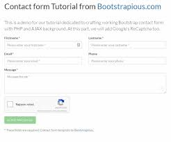 membuat form html online bootstrap html contact form with captcha step by step tutorial