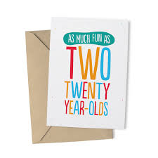 as much fun typographic 40th birthday card u2013 paperhappy