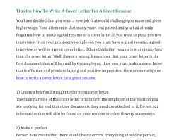 What Should A Great Resume by Create A Good Resume Creating A Good Resume How To Do A Great