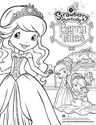 strawberry shortcake berry tales takes the stage coloring page