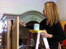 Painted Armoire Furniture Maison Decor Using Transfer Gel An Armoire Makeover