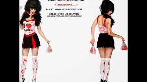 Halloween Cheer Costumes Zombie Cheerleader Costume Undead Cheer Leader Walking
