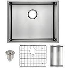 Undermount Stainless Steel Kitchen Sink by Zuhne Modena 23 Inch Undermount Deep Single Bowl 16 Gauge