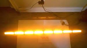 warning light bar amber 50 amber directional traffic advisor strobe emergency warning light