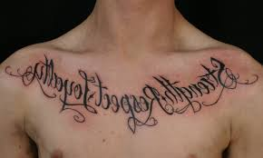 writing on chest chest script tattoos designs and ideas