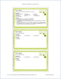 Free Business Card Templates For Word 2010 Free Printable Recipe Card Template For Word