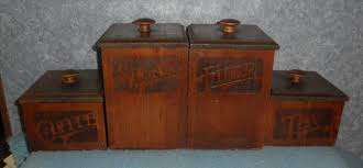 antique kitchen canister sets canister set b5165 for sale antiques com classifieds