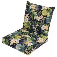 hampton bay luxe solid 2 piece outdoor deep seating cushion 7297