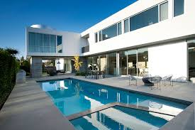 modern house california white stucco modern house in venice california by dennis gibbens