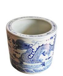 large blue u0026 white chinese dragon planter u2013 high street market