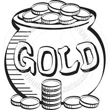 gold clipart black and white pencil and in color gold clipart