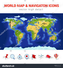 Europe Mountains Map by World Map High Detail Vector Navigation Stock Vector 200077565