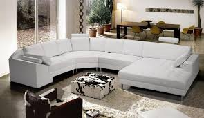 Curved Sectional Sofa Leather Living Room Modern Leather Sectional Couches White Leather