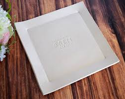 personalized platter wedding gift wedding gift engagement gift or signature guestbook platter