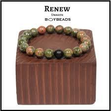 bead bracelet mens images Boybeads quot renew quot 10mm green red african beaded bracelet for men PNG