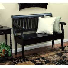 Storage Bench Carolina Cottage Veranda Antique Black Storage Bench 4235 Ab The