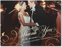 Words For Wedding Thank You Cards Wedding Thank You Cards Wording Etiquette U0026 More