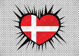 heart shaped flag of denmark vector image 68070 u2013 rfclipart