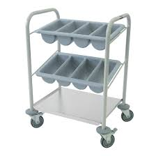 cutlery and tray trolleys buy cafe trolleys online nisbets