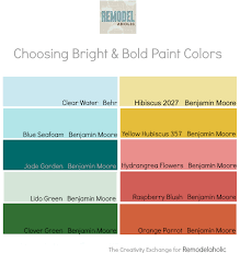 remodelaholic tips for using and choosing bold and bright paint