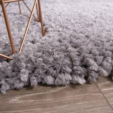 Grey Shaggy Rugs Soft Fluffy Non Shed Polyester Grey Shaggy Rug Kukoon
