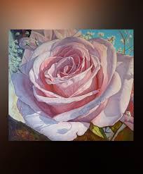 flower rose large wall art canvas oil painting original artwork wall art 36 x 40