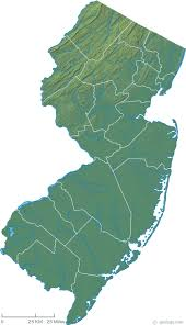 map of nj new jersey physical map and new jersey topographic map