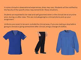the of nursing requires that students adhere to a dress