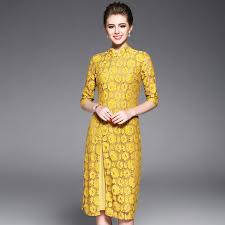 part dresses in yellow color shades for spring summer