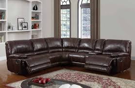10 Foot Sectional Sofa U1953 Power Motion Sectional Sofa Brown Bonded Leather By Global