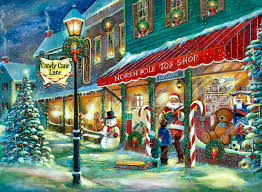 classic vintage style christmas celebration paintings for kids