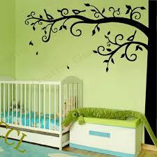 Large Nursery Wall Decals Corner Tree Wall Decal Nursery Wall Decoration Large Tree