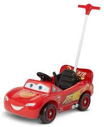 lighting mcqueen pedal car disney pixar cars 3 lightning mcqueen parent steer assist 6 volt